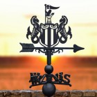 The Magpies Weathervane with Sunset setting