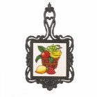 Square Trivet C/W Bowl Of Fruit