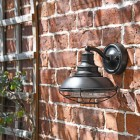 """Newport"" Marine Inspired Wall Lantern with Bracket in Situ on a Brick Wall"