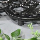 Black Cast Iron Flower Trivet Feet