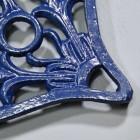 Blue Heavy Duty Heart Trivet Close-Up