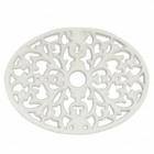 White Cast Iron oval trivet