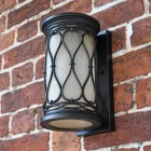 "View of the Bottom of the ""Nightingale"" Traditional Flush Wall Lantern"