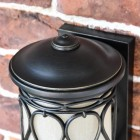 "Close-up of the Top of the ""Nightingale"" Traditional Flush Wall Lantern"
