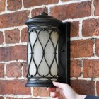 """Nightingale"" Traditional Flush Wall Lantern to scale"