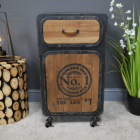 """""""No 1"""" Industrial Bedside Cabinet in Situ in the Home"""