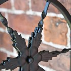 "Close-up of the Star Design on the ""Northern Star"" Hanging Basket Bracket"