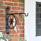 """Northern Star"" Hanging Basket Bracket in Situ by a Front Door"
