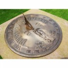 Antique Brass 'Old Father Time' Sundial - 450mm