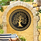 "Round ""Olive Tree"" Wall Art in the Garden"