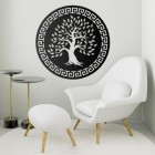 "Round ""Olive Tree"" Wall Art in a Modern Sitting Room"