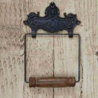Lion Ornate Victorian Iron Toilet Roll Holder