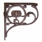 """Lotus Flower"" Shelf Bracket in a Natural Iron Finish"