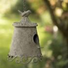 Ornate Chain Hanging Rustic Birdhouse in Situ