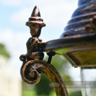 Ornate Finial On Glass Lamp Post Top