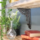 Ornate Shelf Bracket Finished in a Natural Cast Iron Finish
