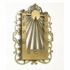 Ornate Wall Mounted Sundial Finished in Polished Brass