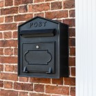 Black Post Box with Black Lettering