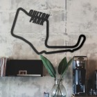 Oulton Park Racing Circuit Wall Art in Situ in a an Office