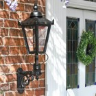 Outdoor garden wall lantern by front door