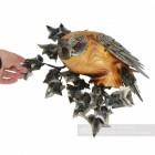 Artist Piece - Wood & Metal Perching Owl Owl Wall Art Sculpture