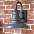 Traditional Railway Style Wall Light Finished in Bronze