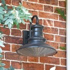 """Paddington"" Railway Style Large Wall Light in Situ on a Brick Wall"