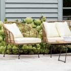 "Polyethylene ""Bamboo"" Armchairs in Situ"