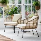"""Polyethylene """"Bamboo"""" Armchairs in Situ Outdoors"""