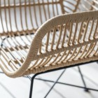"""Close-up of the Polyethylene """"Bamboo"""" on the Dining Chair"""