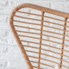"Close-up of the Winged Polyethylene ""Bamboo"" on the Back Dining Chair"