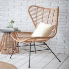 "Winged Polyethylene ""Bamboo"" Dining Chairs in Situ"