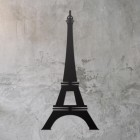 Paris Eiffel Tower Wall Art on a Rustic Grey Wall