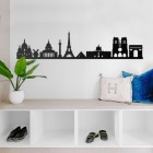 Paris Skyline Wall Art in Situ