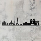 Paris Skyline Wall Art Steel