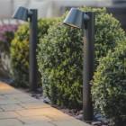 Modern Black Outdoor Pillar Path Light
