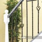 Single Rope Twist & Single Basket Rope Twist Spindles in Situ on a Stair Case