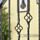 Close-up of the Black Finish on the Single Rope Twist & Single Basket Rope Twist Spindles