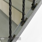 "Set of 3 ""Grosvenor"" Rope Twist Stair Spindles - Pattern 4 - Mounting Brackets"