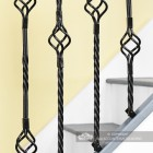 Close-up of the Single Basket Rope Twist & Double Basket Rope Twist Spindles