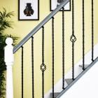 """Set of 3 """"Grosvenor"""" Rope Twist Stair Spindles in Situ on a Modern stair Case"""