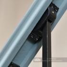 Rake bracket on stair spindle