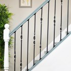 Wrought iron stair spindles, single twist, double twist and plain spindles