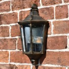 """Penley"" Flush Wall Light in Situ on a Brick Wall"