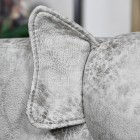 Close-up of the Ear on the Pig Leather Stool