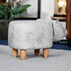 View of the back of the Pig Leather Stool