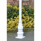 White 1.728m Lamp Post
