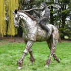 Planet Of The Apes 'Caesar' Riding Horse Sculpture in Situ in the Garden