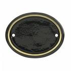 Polished Brass & Black Oval House Number Sign