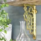 Polished Brass Cherub Design Bracket 25 x 12cm